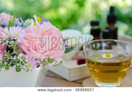 aromatherapy treatment with tea
