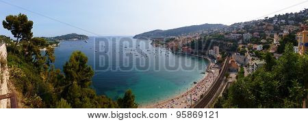 Panoramic View Of Villefranche-sur-mer (cote D'azur)