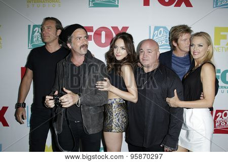 SAN DIEGO - JUL 10:  Cast of Sex&Drugs&Rock&Roll at the 20th Century Fox Party Comic-Con Party at the Andaz Hotel on July 10, 2015 in San Diego, CA