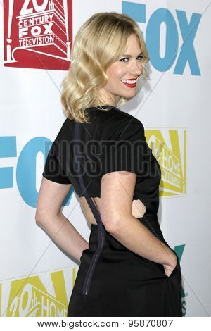 SAN DIEGO - JUL 10:  January Jones at the 20th Century Fox Party Comic-Con Party at the Andaz Hotel on July 10, 2015 in San Diego, CA