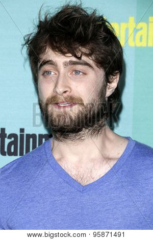 SAN DIEGO - JUL 11:  Daniel Radcliffe at the Entertainment Weekly's Annual Comic-Con Party at the Hard Rock Hotel on July 11, 2015 in San Diego, CA