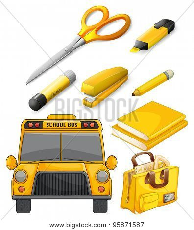 School bus and other stationary