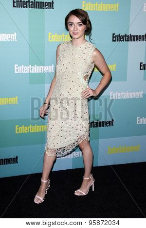 SAN DIEGO - JUL 11:  Maisie Williams at the Entertainment Weekly's Annual Comic-Con Party at the Hard Rock Hotel on July 11, 2015 in San Diego, CA