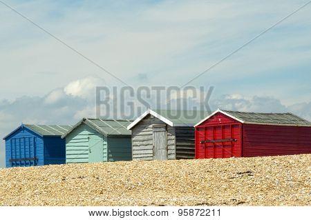 Beach Huts on Hayling Island, UK