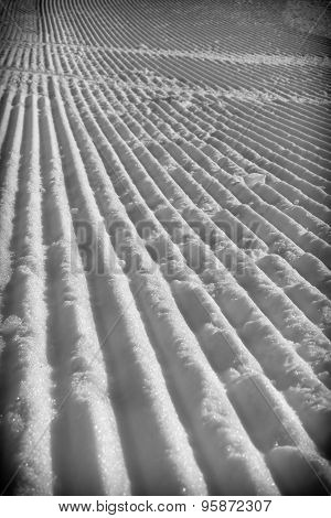 Snow with stripes