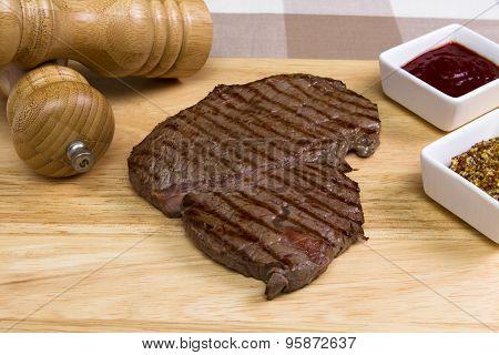 Raw rump steak