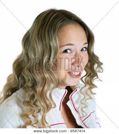 Surprised Smiling Girl
