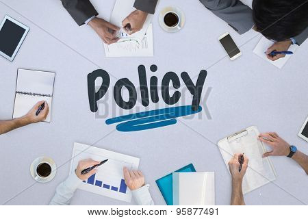 The word policy against business meeting