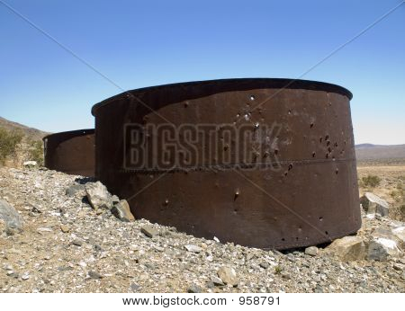 Rusty Storage Drums