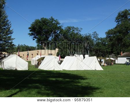 Tents at Ft Stanton