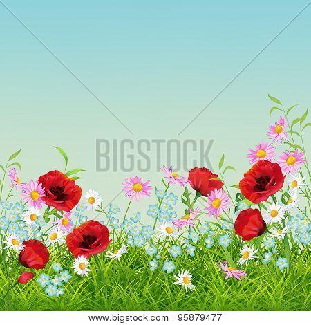 Vector Summer Flower Flyer