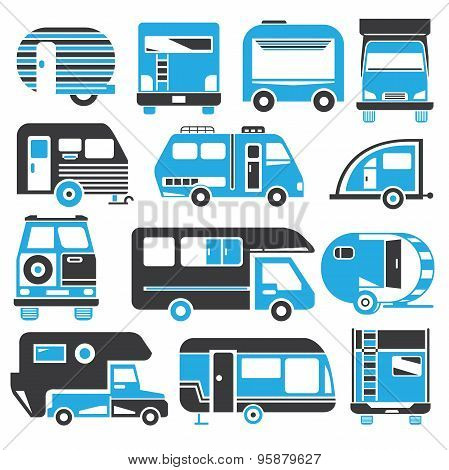 camping truck icons