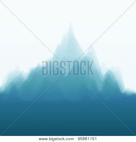 Mountain Landscape. Vector Silhouettes Of Mountains Backgrounds. Can Be Used For Banner, Flyer, Book Cover, Poster, Web Banners.