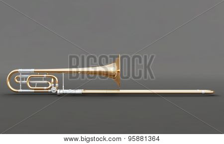 Trombone On A Gray