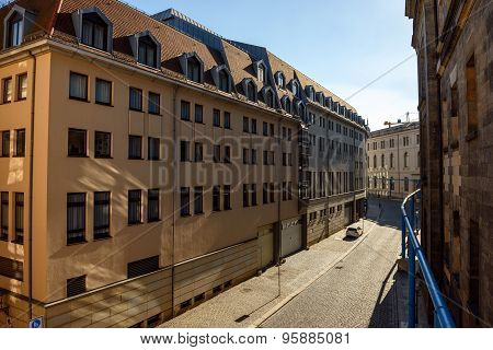 View Of Bruhl Alley From Bruhl Terrace, Dresden, Saxony, Germany.