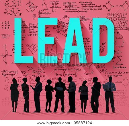 Lead Leadership Management Support Team Concept