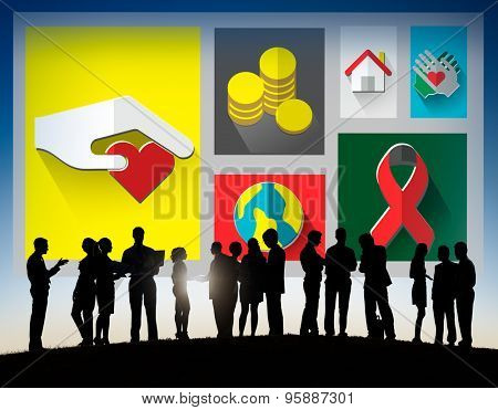 Donate Donation GIve Help Sharing Volunteer Aid Concept