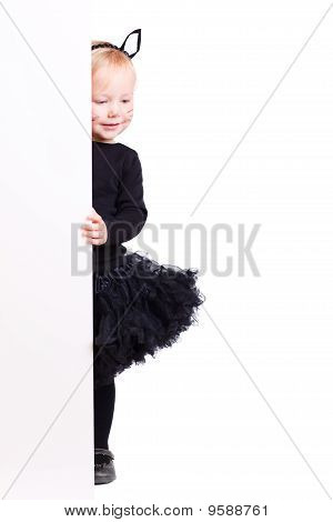 Girl In Black Cat Costume