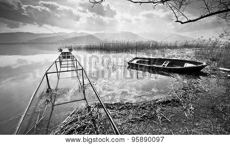 Old Boat Under Water