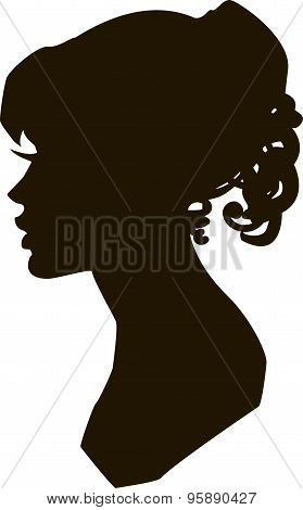 Beautiful Silhouette Of Young Girl