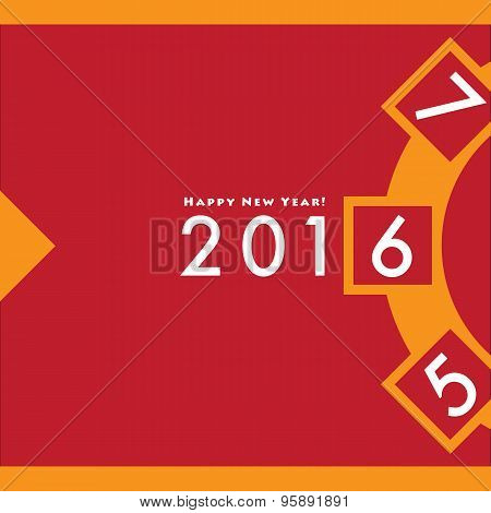 Happy New Year 2016 Roulette Design Card Vector