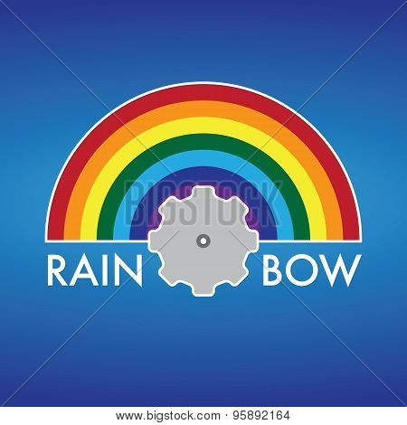 Rainbow Company Vector Logo Design