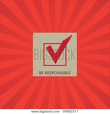 Voting Symbols Vector Design On Red Stripes Background