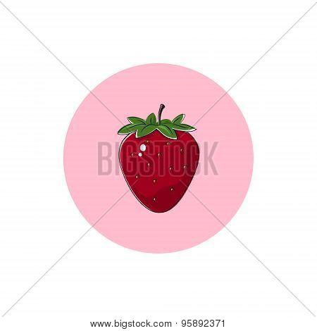 Icon Colorful Strawberry