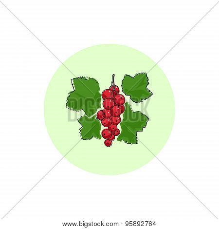 Icon Colorful Redcurrant