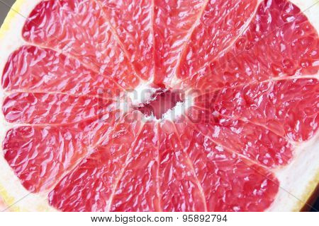 Cut Red Grapefruit