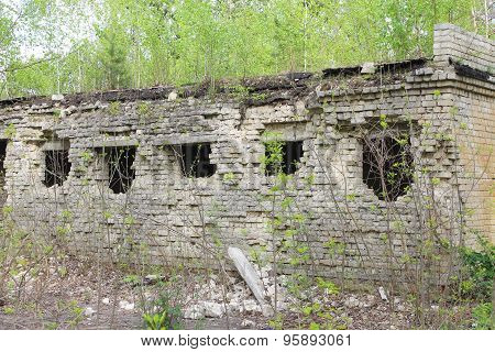 Old Desolate Building With Broken Windows