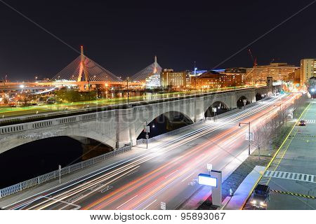 Boston Zakim Bunker Hill Bridge, USA