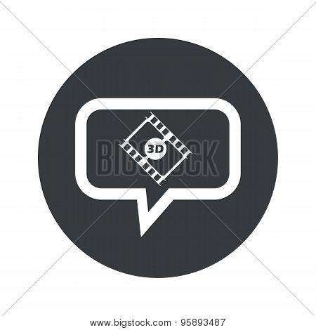 Round 3D movie dialog icon