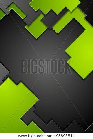 Green black contrast technology background. Vector design