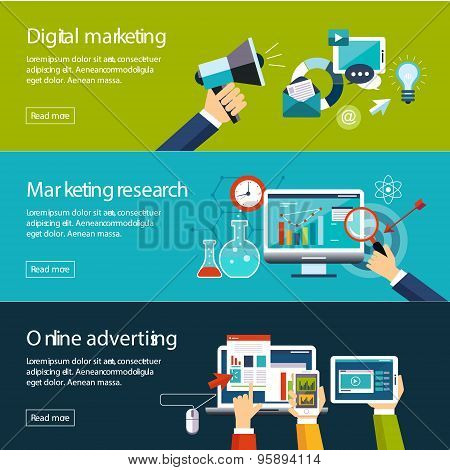 Management Digital Marketing Srartup Planning Analytics  Banners