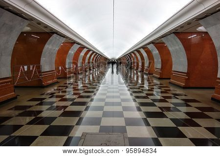 Park Pobedy station, Moscow subway (metro), Russia