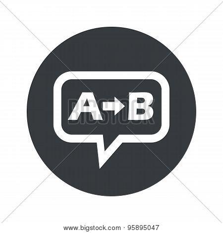 Round A B dialog icon