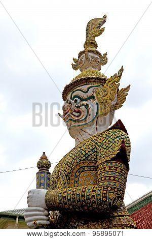 Demon In The Temple Bangkok Sky  Warrior Monster