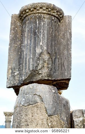 Old Column In The A  Sky History And Nature
