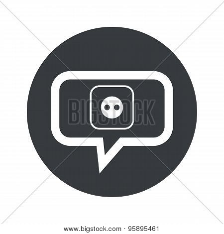 Round socket dialog icon