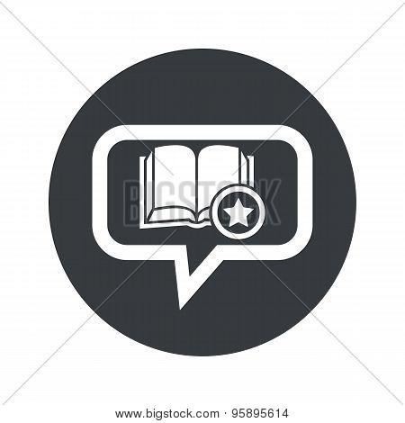 Round favorite book dialog icon