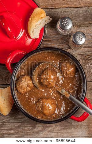 Meatballs In The Sauce.