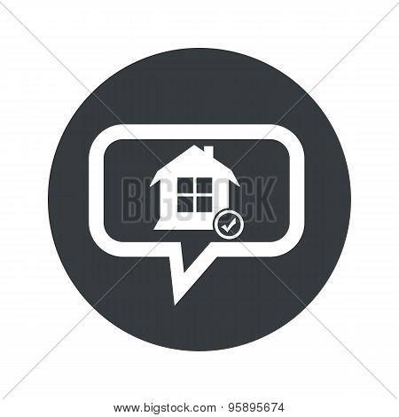 Round select house dialog icon