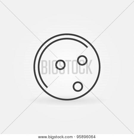 Bowling ball icon or logo