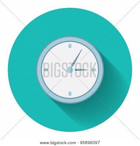 Flat Design Modern Vector Illustration Of Analog Clock Icon
