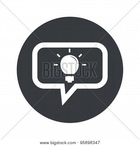 Round light bulb dialog icon