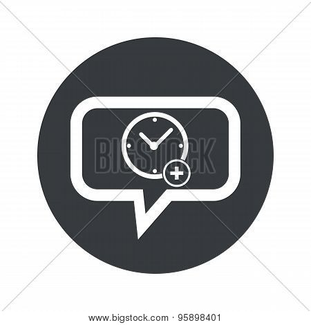 Round add time dialog icon