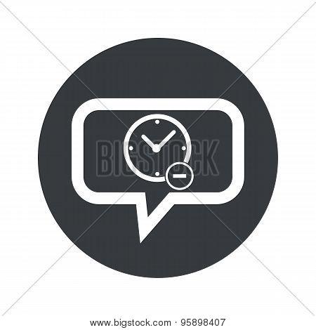Round reduce time dialog icon