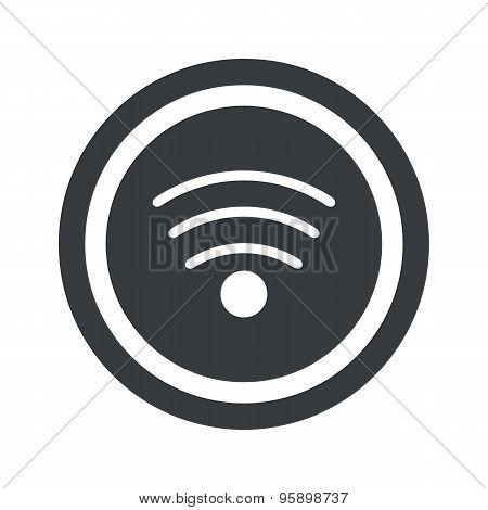 Round black Wi-Fi sign