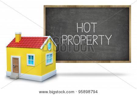 Hot property on blackboard